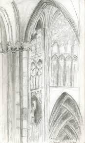 Cologne Cathedral Interior Melissa Gerhold Sketch Interior Cologne Cathedral Germany