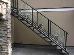 aluminum stair railings interior attractive aluminum stair