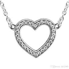 s day pendants wholesale s day loving hearts with clear cz necklace