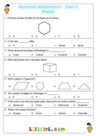 shapes olympiad worksheets for class 2 maths