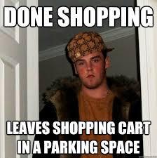 Shopping Cart Meme - done shopping leaves shopping cart in a parking space az meme