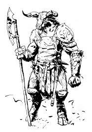elf minotaur sketch