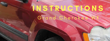 jeep instructions instruction library for jeep grand cherokee wk by vendor in pdf