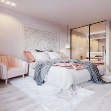 light pink and grey bedroom ideas for decorating a bedroom