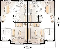 multifamily house plans first floor plan of contemporary multi family plan 64904 home