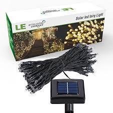 solar power led lights 100 bulb string le solar power led string lights 49ft 15m 100 leds waterproof