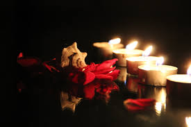 candle and roses desktop wallpaper wallpapersafari