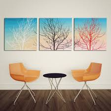 Wall Art Images Home Decor 3pcs 30x30cm New Tree Gamble Creative Decorative Canvas Painting