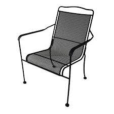 Mesh Patio Chairs by Shop Garden Treasures Davenport Black Steel Mesh Stackable High
