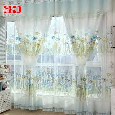 Fish Curtains Cotton Fish Curtains For Room Bedroom Blinds Green
