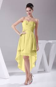 pastel yellow bridesmaid dress informal a line sweetheart