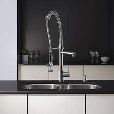 Tall Kitchen Faucets by Kraus Kpf 1602 Single Handle Pull Down Kitchen Faucet Commercial