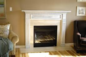 primed white fireplace