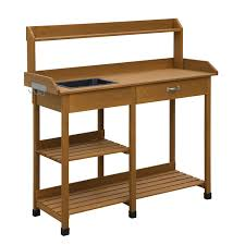 Changing Table With Sink Modern Garden Potting Bench Table With Sink Storage Shelves