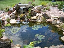 Backyard Waterfalls Ideas Lawn U0026 Garden Relaxing Backyard Waterfalls Ideas With Neutral