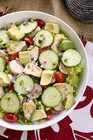 hearts of palm artichoke avocado and butter lettuce salad