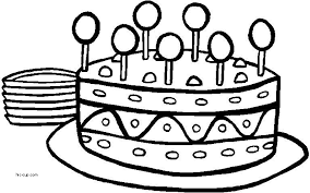 Birthday Cakes Beautiful Colouring Pictures Of Birthday Cakes Birthday Cake Coloring Pages