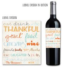 thanksgiving wine label