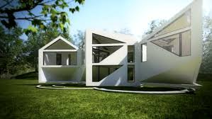 different house designs origami house changes shapes to take advantage of different seasons