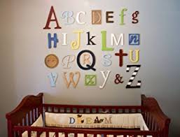 Nursery Wall Decor Letters Nursery Alphabet Wall Decor Wooden Alphabet Letters