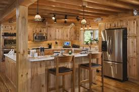 extraordinary rustic cabin kitchen decorating ideas using led