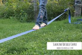 Backyard Obstacle Course Ideas It S Slackline Season And Eggs