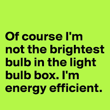 which light bulb is the brightest of course i m not the brightest bulb in the light bulb box i m