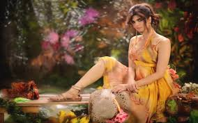 beautiful lovely yellow dress pose hd wallpapers
