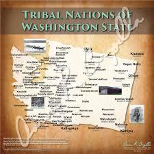 Washington State Maps by United States Tribal Nations Of Washington State Map U2013 North