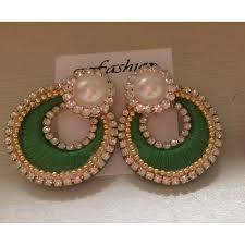 chandbali earrings online buy silk thread chandbali earrings online craftsvilla