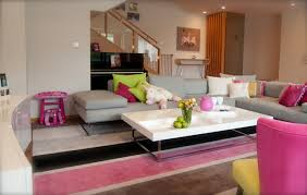 living room playroom playfull pink poolside playroom contemporary living room