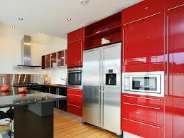 Modern Sleek Design kitchen modern sleek design cabinet in red backsplash idea wood