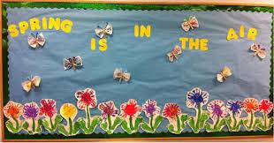 butterflies flowers bulletin board idea