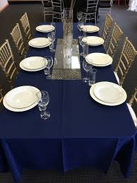 navy blue table linens linen product range beavis your event team beavis