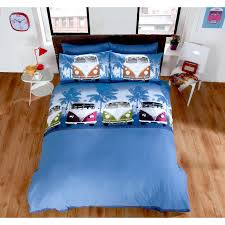 Childrens Duvet Covers Double Bed Boys Campervan Duvet Cover û Teenage Multi Coloured Navy Blue