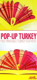 make a pop up turkey thanksgiving turkey free printable and