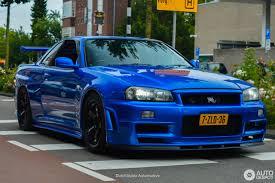 nissan blue car nissan skyline r34 gt r v spec 9 liepos 2016 autogespot