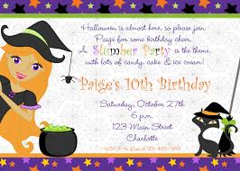 halloween themed birthday halloween birthday invitation halloween slumber party