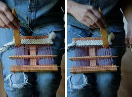 How To Make A Rag Rug Weaving Loom How To Weave On A Hand Loom Fringe Association