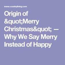 why we say merry and not happy
