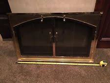 Superior Fireplace Glass Doors by Brass Fireplace Doors Ebay