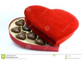 heart box of chocolates heart box with chocolates stock images image 1734144