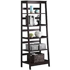 amazon com simpli home acadian solid wood ladder shelf bookcase