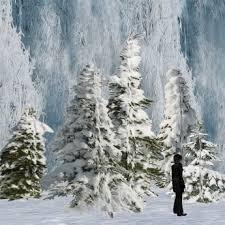 second marketplace snowy tree set 1 winter