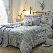 tatton patchwork duvet quilt cover bedding red heather stag tartan