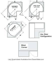 lazy susan cabinet sizes corner cabinet sizes blind corner base cabinet dimensions