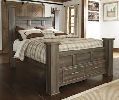 Queen Storage Beds With Drawers Vintage Rustic Queen Storage Bed Sam Levitz Furniture
