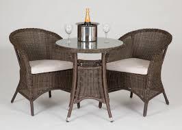 Rattan Bistro Table Riverdale 2 Seat Bistro Rattan Garden Set With High Table Garden