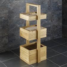 Tiered Bathroom Storage Three Tier 90cm Three Box Solid Oak Bathroom Storage Stand Caddy