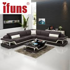 Corner Chesterfield Sofa Shop Ifuns L Shape Corner White Cow Leather Chesterfield